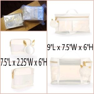 Kendall + Kylie Frosted Lucite Cosmetic Bag Set